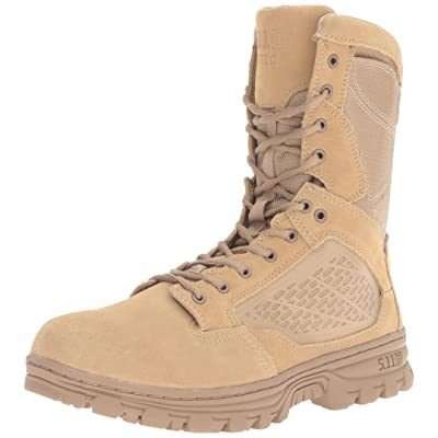 "5.11 Men's EVO 8"" Desert Side Zip Boot Military & Tactical, Style 12347: Shoes"