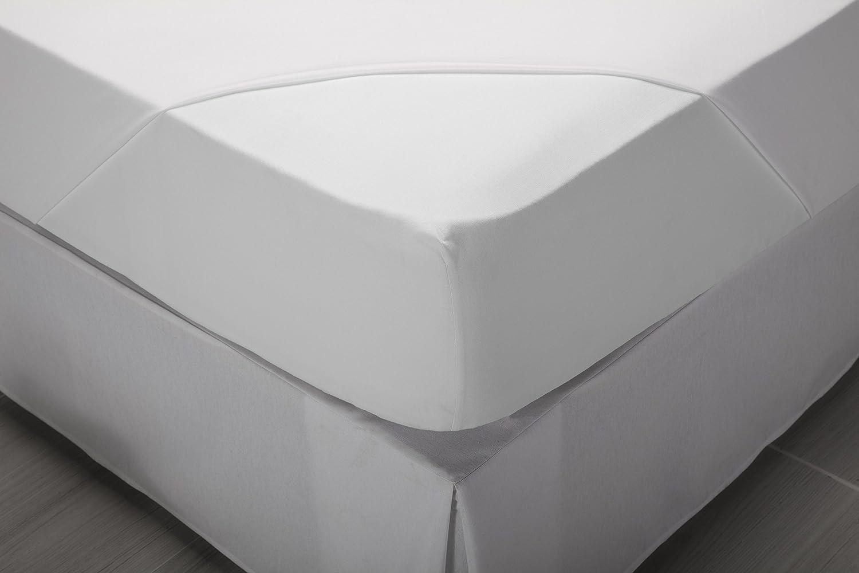 bianco 135 x 190//200 cm Lenzuolo di sotto con angoli Tutte le misure 100/% cotone Pikolin Home Letto da 135 cm