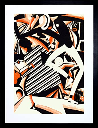 9x7 inch painting draw african american jazz two tone reiss dance music framed wall art print