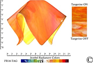 "product image for Jezebel Radiance Large Flame Tangerine Orange Glass Pendant/Ceiling Fan Light Replacement Glass Shade, 1 5/8"" hole"