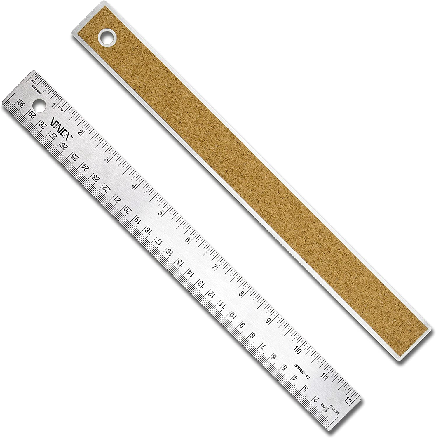 12 Inches Long Silver Thin and Flexible Stainless Steel Ruler One Piece 30cm