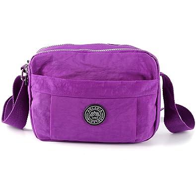 f02c9592f2e5 Anladia Women s Casual Multi Pocket Nylon Messenger Bags Cross Body  Shoulder Bag Travel Purse