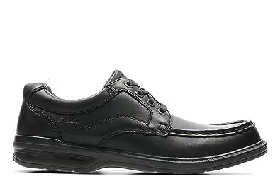 CLARKS Keeler Step Mens Black Leather Wide Fit H Fit Shoes