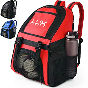 Lux - Mochila de fútbol con Compartimento para Pelotas de fútbol ...