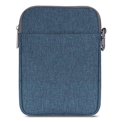 MoKo Sleeve for Kindle Paperwhite/Kindle Voyage, 6-Inch Nylon Cover Pouch Bag for Amazon Kindle Paperwhite/Voyage/Kindle(8th Generation, 2016)/Kindle Oasis E-Reader, Denim Blue
