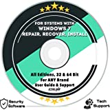 Ezalink Disc for Windows 7 SP1 Repair Install Recovery Restore Boot Fix DVD | 32 & 64 Bit Systems, All Editions and Brands w/ AntiVirus and Support