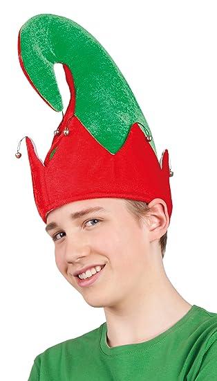 4ab3968069a71 Gorro de duende de Navidad para adulto  Amazon.es  Juguetes y juegos