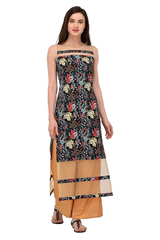 7ff06dda75a6f NOWT BLACK Party and Casual wear Women Kurti (RWAPKU062)  Amazon.in   Clothing   Accessories
