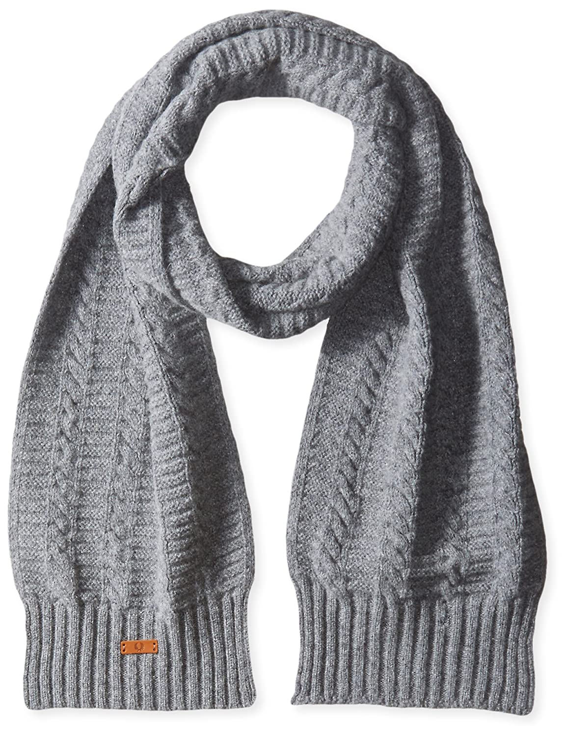 Fred Perry Men's Filey Gansey Scarf Grey Marl One Size C7115