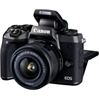 Canon EOS M5 24.2MP Mirrorless Wi-Fi and Bluetooth Digital Camera with EF-M 15-45mm f/3.5-6.3 IS STM Lens