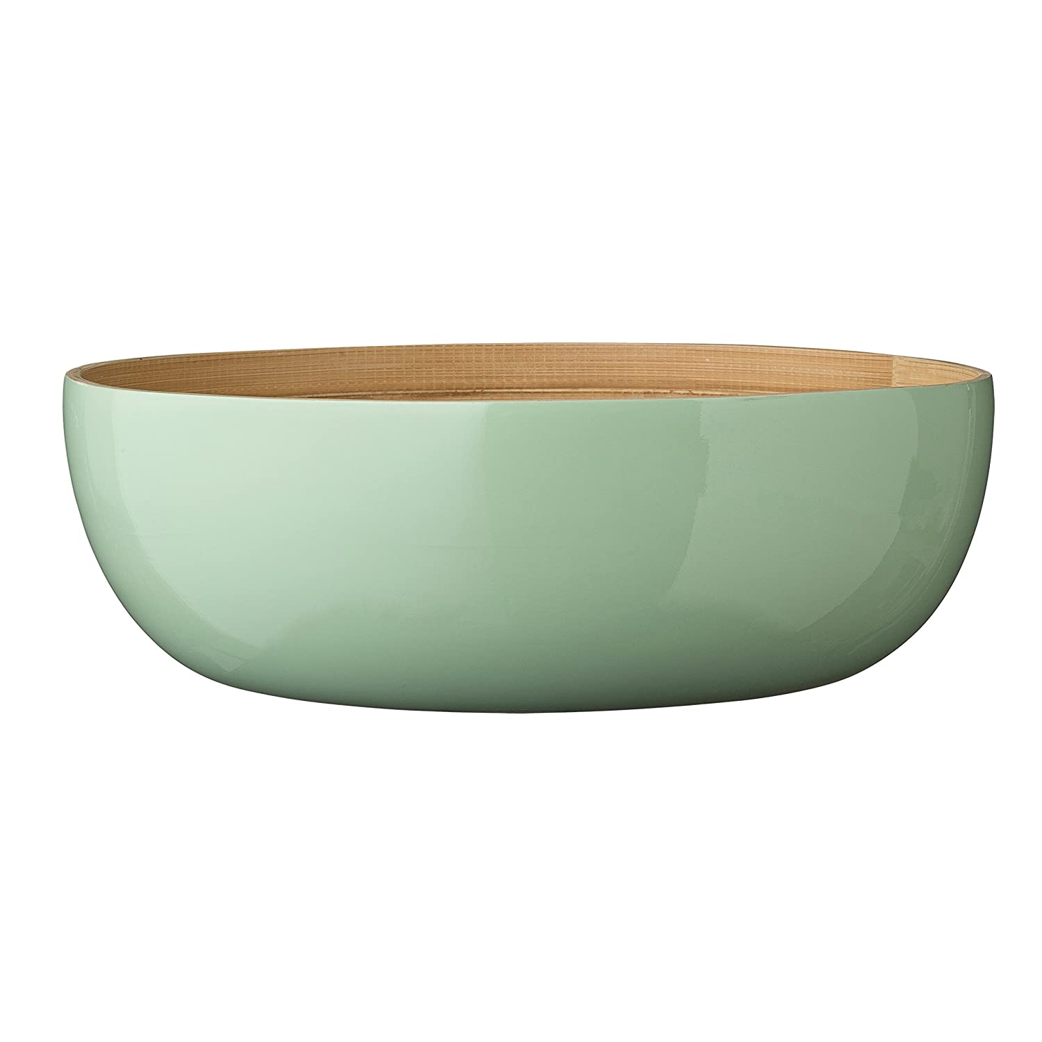 Bloomingville Round Mint Bamboo Olivia Salad Bowl, Multicolor A92200004