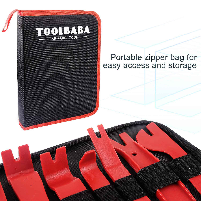 TOOLBABA 19 pcs Trim Removal Tool Set , Car Panel Removal Tool, Auto Trim Removal Tool Kit with Storage Bag by TOOLBABA (Image #2)