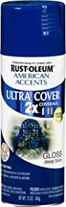 Rust-Oleum 269419 American Accents Ultra Cover Gloss, 12 oz, Deep Blue