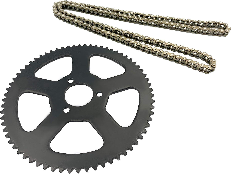 68 Links Chain for 49cc 2 Stroke Mini Motor,Stroke Off-Road Motorcycle Chain Drive Gear Xiaozxwlhq 68T Rear Chain Sprocket