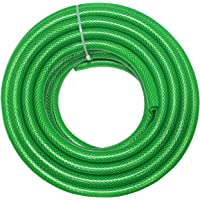 Technocrafts PVC Braided 3 Layered Hose Water Pipe for Agricultural Equipment (Green, 10M, 33 Ft, 0.5-inch, 12.5mm)