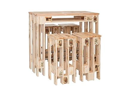 Welcon bancone con quattro sgabelli da bar di design realizzati