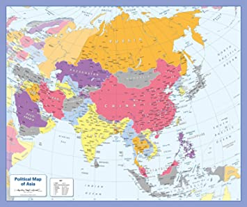 Amazon.com : Color Blind Friendly Political Wall Map of Asia ... on beijing map asia, color map south america, color map australia, color us map, world clock asia, pyramids of asia, color europe map, north asia, color map united states, shape of asia, compass of asia, color map africa, world map asia, citytime zone map asia, educational maps of asia, coloring pages of animals in asia, color map egypt,