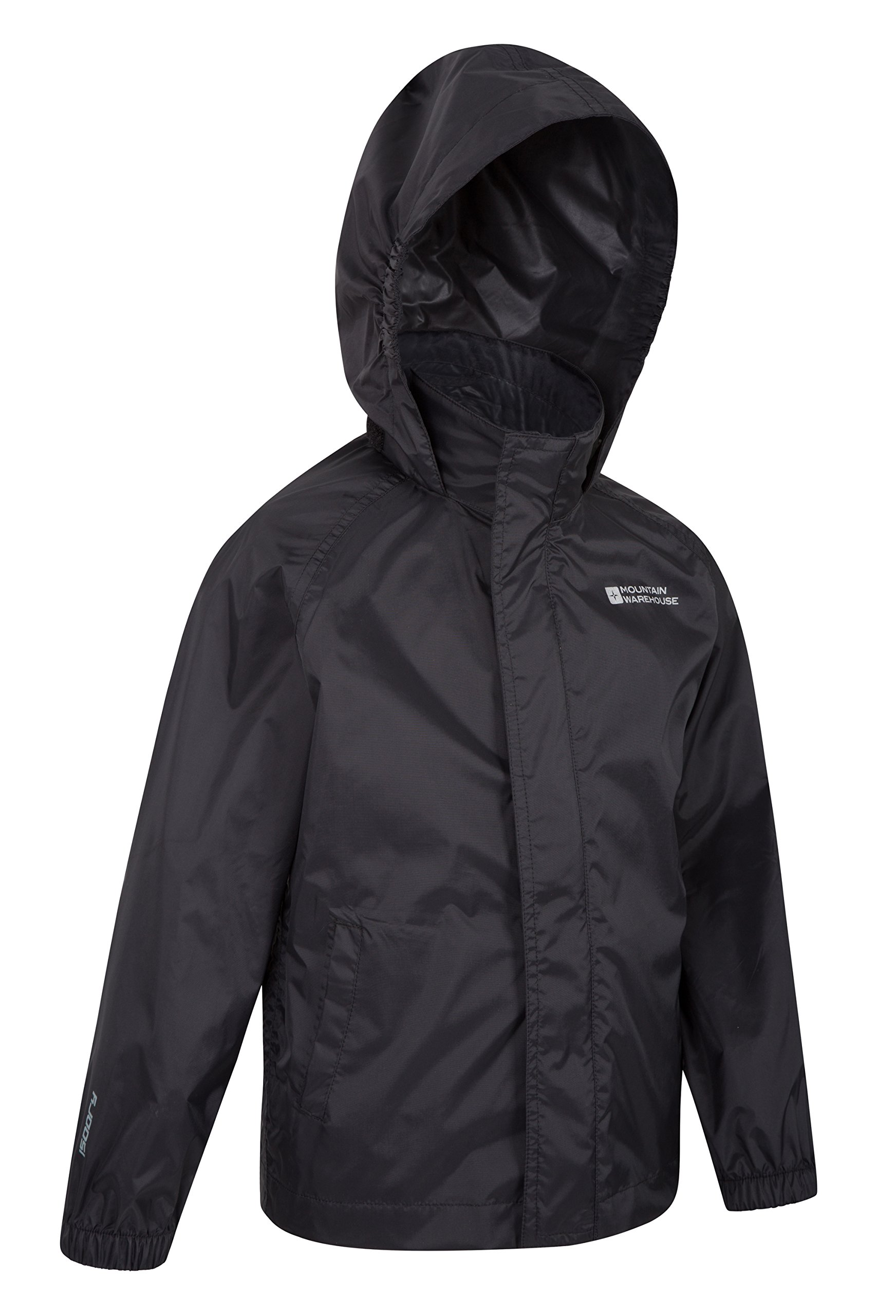 12bc0d530 Galleon - Mountain Warehouse Pakka Kids Rain Jacket - Waterproof - Girls &  Boys Black 3-4 Years