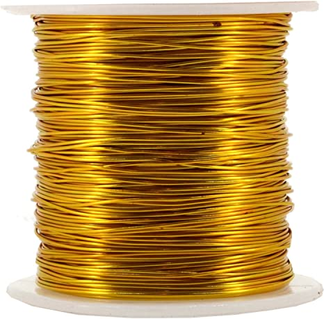 Light Gold Anodized Jewelry Craft Making Beading Floral Colored Aluminum Craft Wire 12 Gauge,100FT BENECREAT 12 17 18 Gauge Aluminum Wire