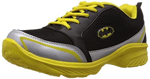 16599889ff Batman Men's Black and Silver Running Shoes - 10 UK: Buy Online at ...