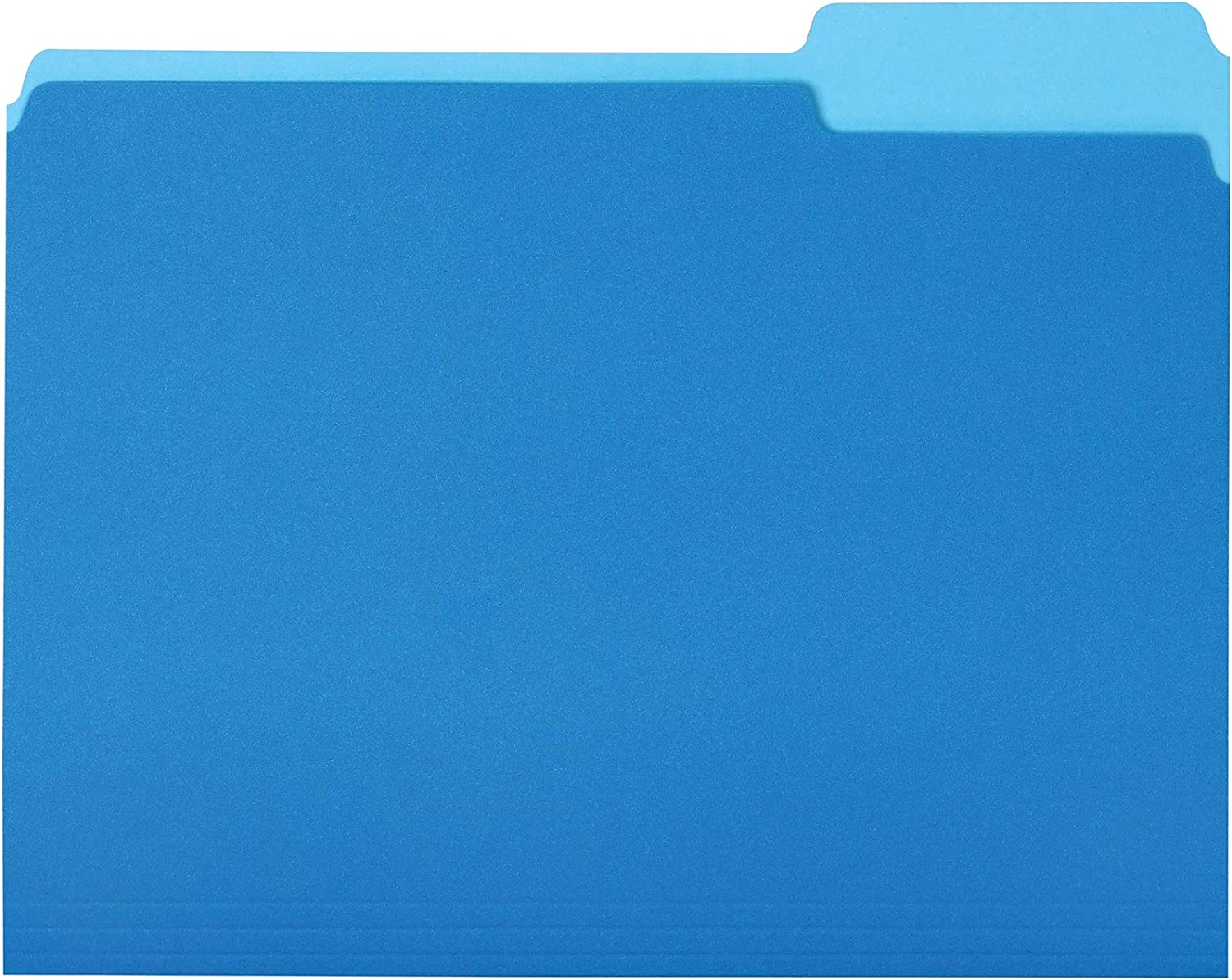 AmazonBasics File Folders, Letter Size, 1/3 Cut Tab, Blue, 36-Pack