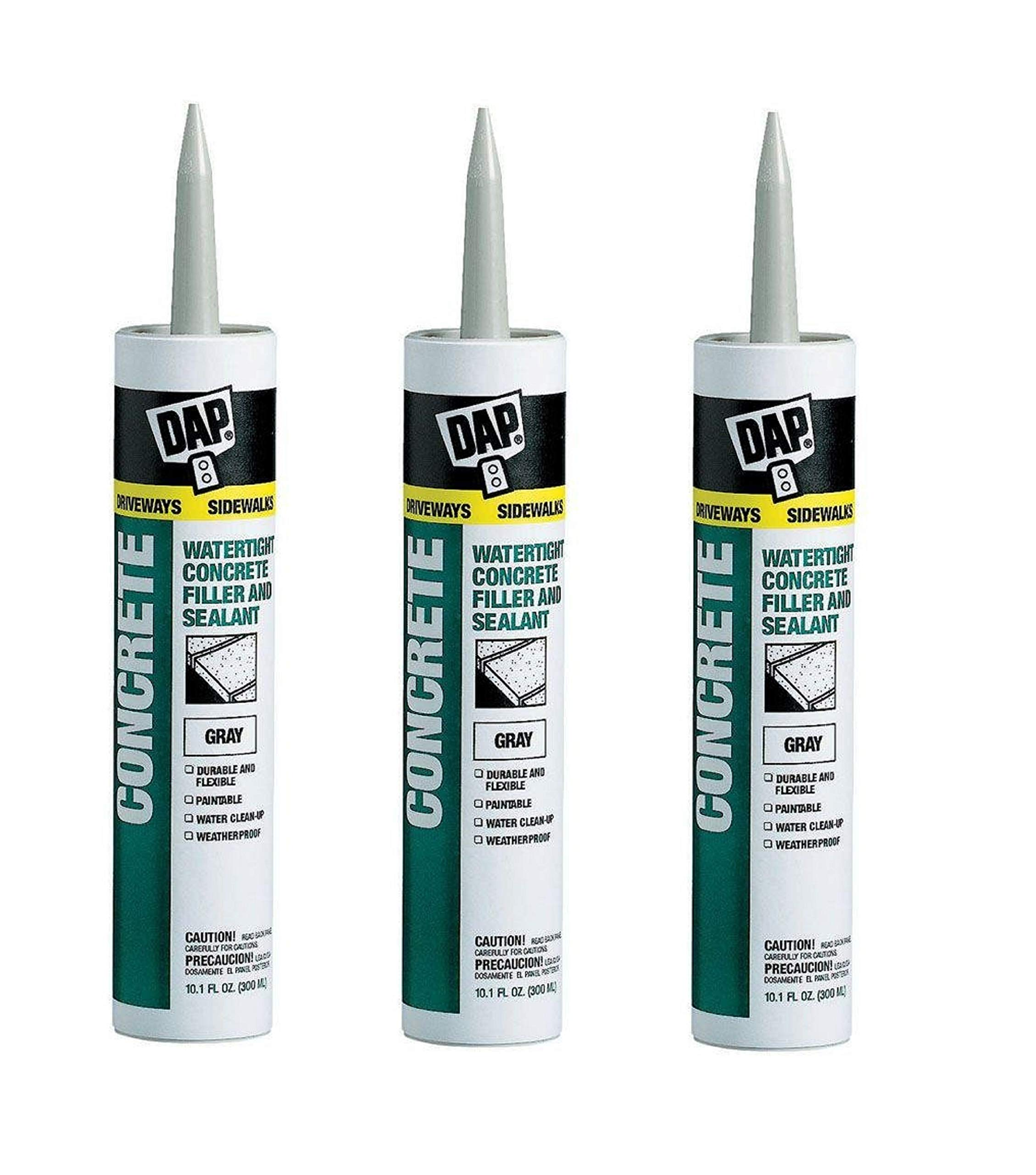 Dap 18021 Concrete and Mortar Watertight Filler and Sealant - Gray 10.1-oz Cartridge (18096). Sold as 3 Pack by DAP