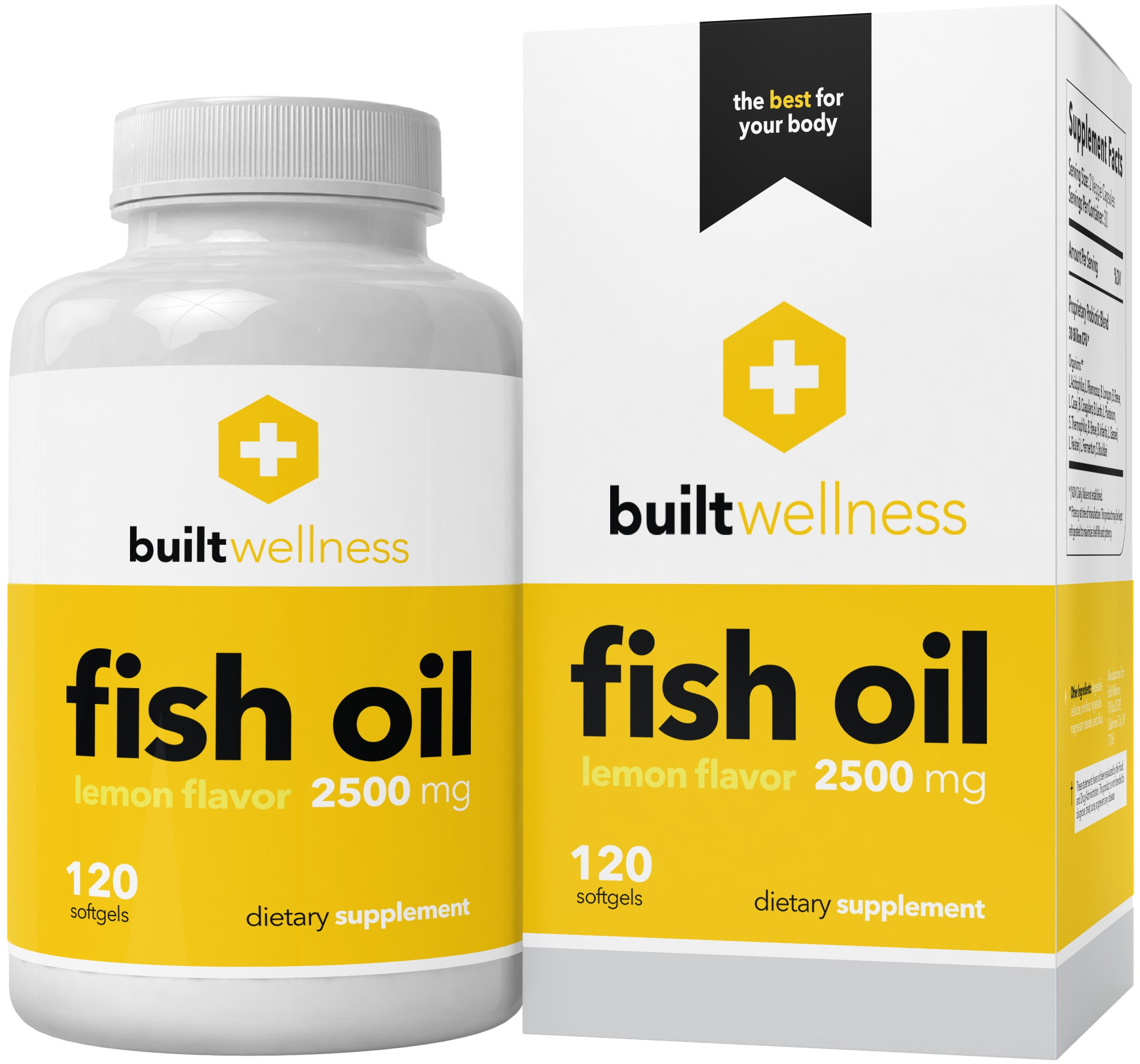 Built wellness coq10 supplement 100 mg 120 for Coq10 and fish oil