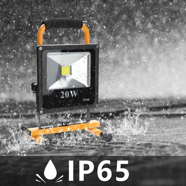 Wolketon Projecteur /à LED pour ext/érieur 30w Warmwei/ß