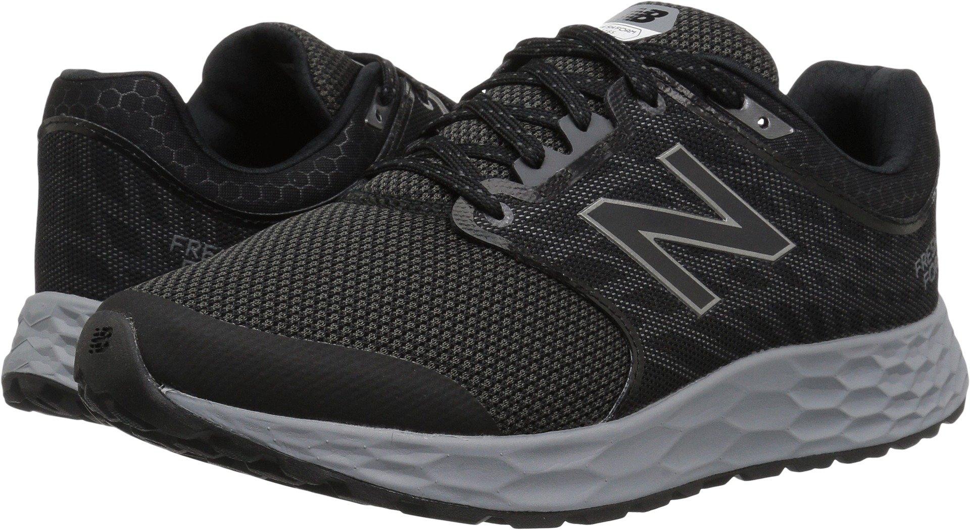 New Balance Men's 1165v1 Fresh Foam Walking Shoe, Black/Silver, 10.5 2E US