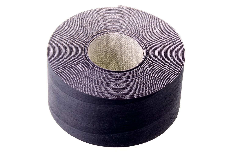Negro chapa de Tulipwood bandas de chapa de borde/borde cinta (50 mm x 7, 5 m longitud) –  grado superior pre-glued DIY para planchar (Hotmelt) chapa de tejido y pulido borde rollos Chameleon Stationers of London