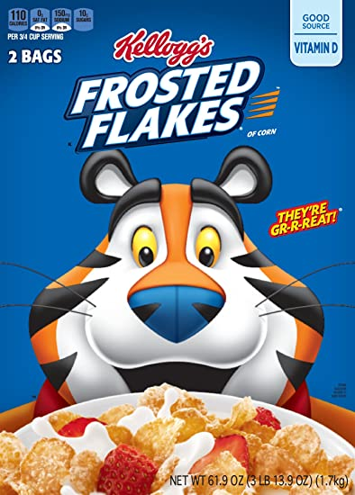 Frosted Flakes Cereal 619 Ounce Box