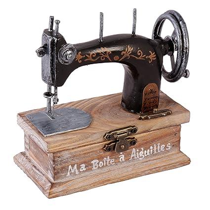 Estilo Vintage botones y caja de almacenaje de costura hilos – inusual caja de joyero de