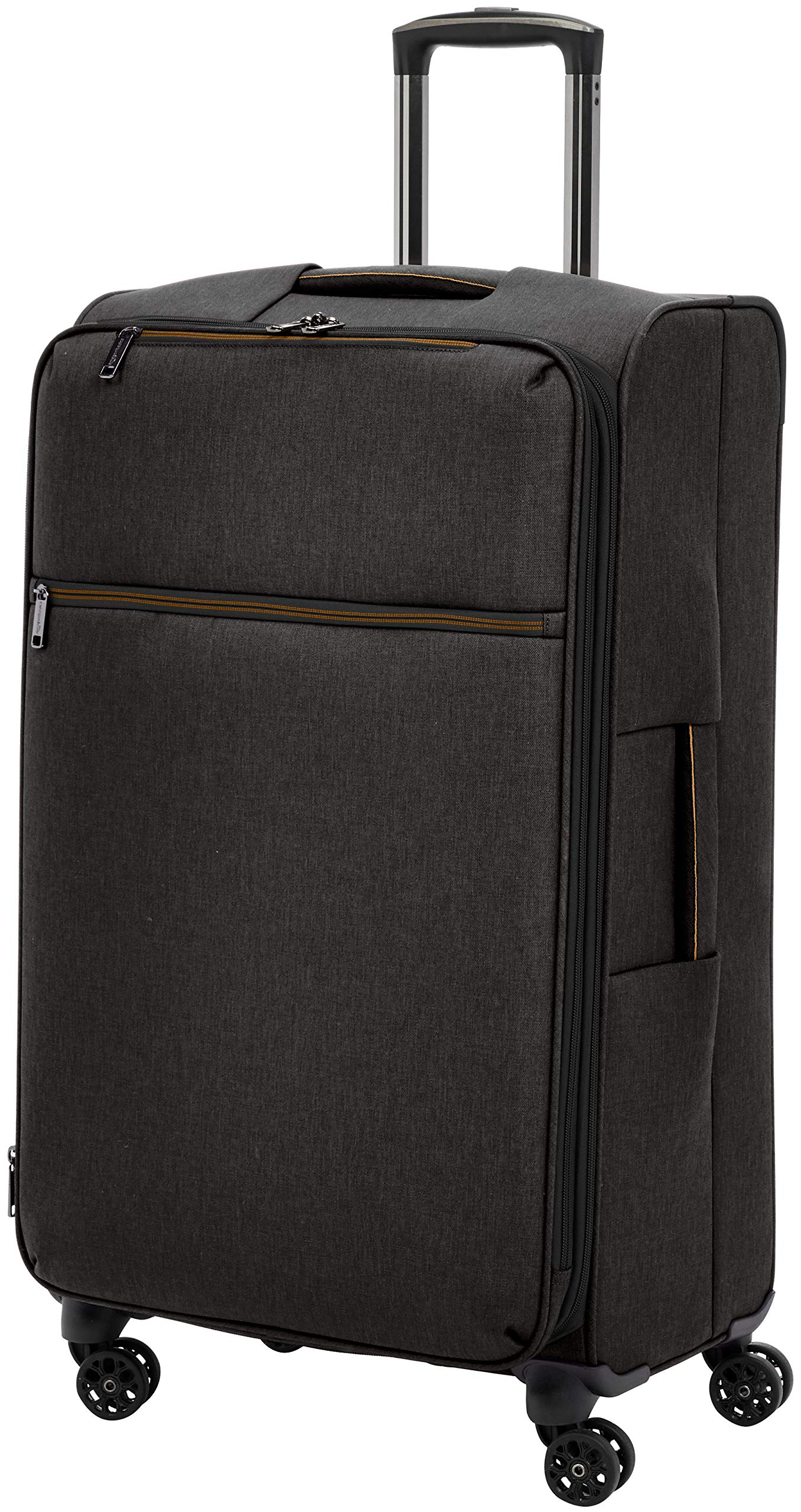 AmazonBasics Belltown Softside Rolling Spinner Suitcase Luggage - 29 Inch, Heather Black