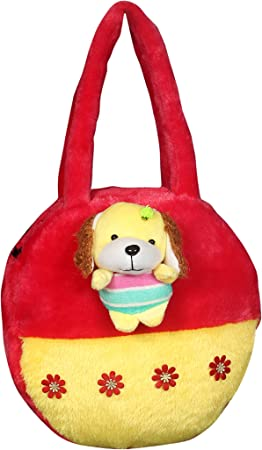 Tickles Beautiful Dog Hand Purse Soft Stuffed for Kids 4 litres