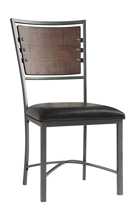 Homelegance Two Pack Fideo Industrial Style Dining Chairs Pine