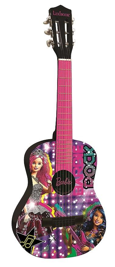 Barbie Guitarra Clásica de 6 Cuerdas Color Rosa Lexibook K2000BB