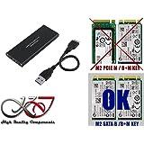 Kalea Informatique Gehäuse M2auf USB3(USB 3.0SuperSpeed)–Unterstützt die 4Formate: 2230/2242/2260/2280–Für SSD m.2NGFF Typ SATA B Key
