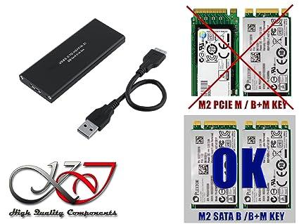 KALEA INFORMATIQUE nbsp;– Carcasa M2 en USB3 (USB 3.0 Super Speed) – compatible con los 4 formatos: 2230/2242/2260/2280 – para SSD m.2 NGFF tipo SATA ...