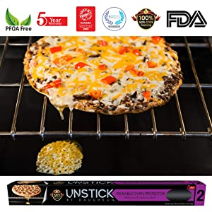 UNSTICK Reusable Nonstick Oven Liner & Protector | Premium Japanese 100% PFOA-Free Material | 5 Year Hassle-Free Warranty