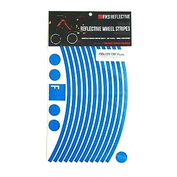 Fiks:Reflective Pegatinas Para Ruedas De Bicicleta En 29 10Mm Disco Rompe Azul: Amazon.es: Deportes y aire libre