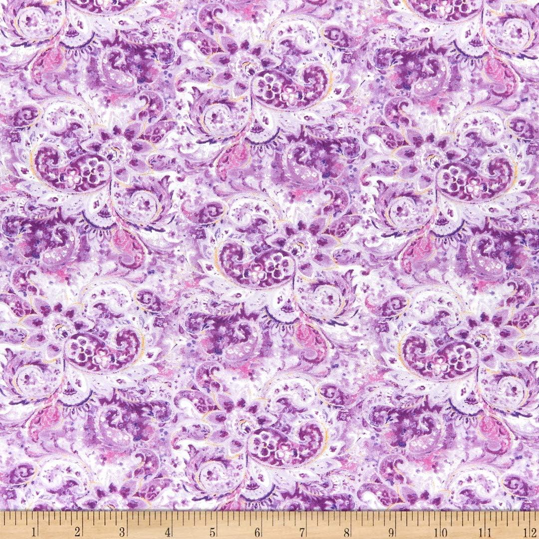 Jot Dot 100/% Cotton Fabric Cotton Classics Purple