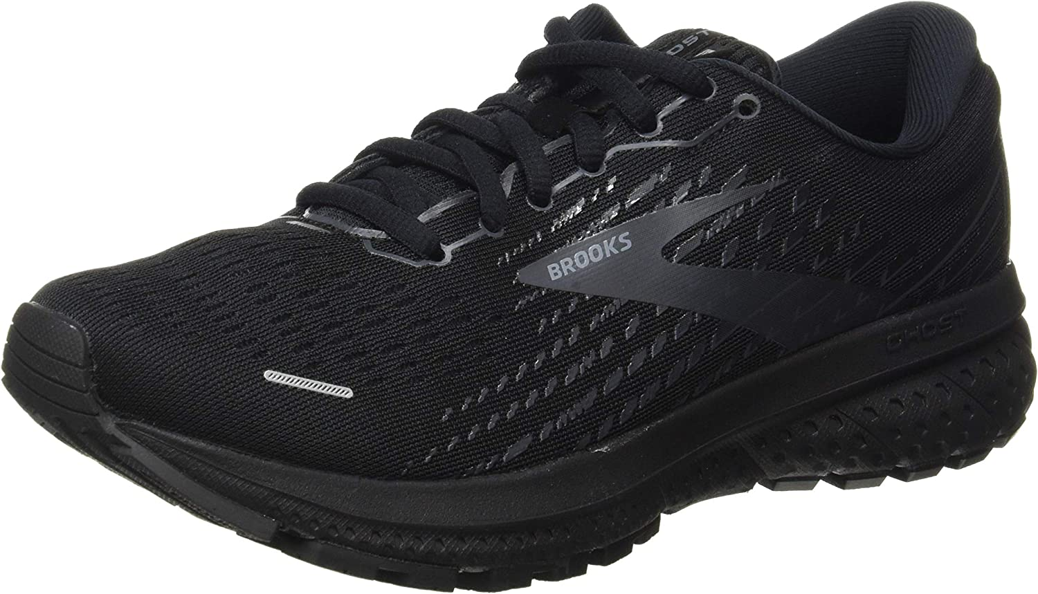 Brooks Ghost 13 Black Black 9 B M