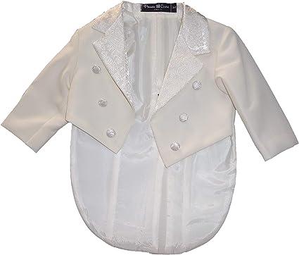 Frak Smoking - Conjunto de Camisa y pantalón de satén para Ceremonia Panna/Avorio 6 años: Amazon.es: Ropa y accesorios
