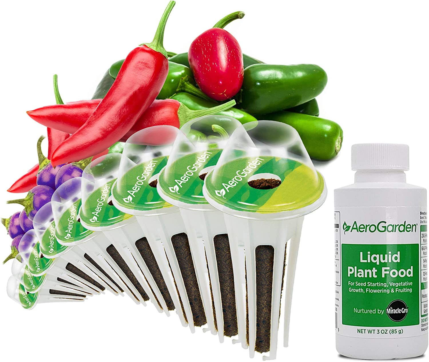 AeroGarden Spicy Chili Pepper Seed Pod Kit, 9