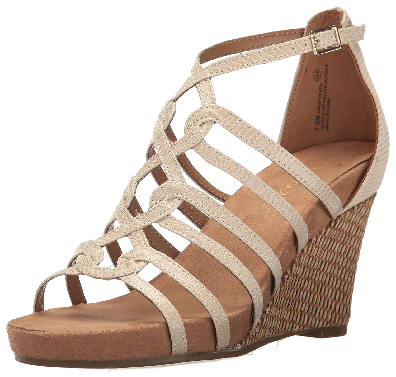 Aerosoles Women's Great Plush Wedge Sandal B01MTA500M 12 M US|Bone Snake