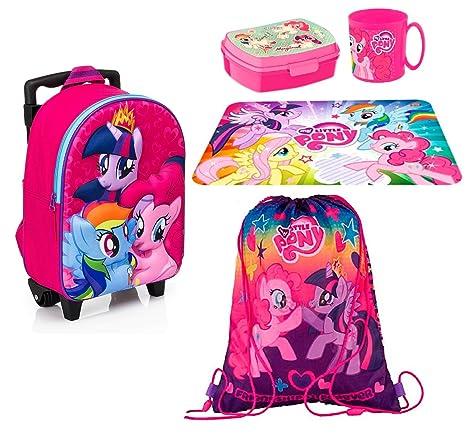 d03b18b077 My Little Pony zainetto zaino Trolley in 3D, Sacca Sport, Set Colazione  Merenda Scuola