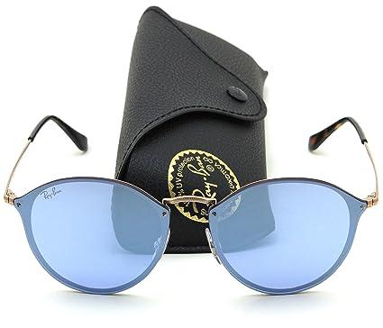 9a6ea8bc12f Amazon.com  Ray-Ban RB3574N BLAZE ROUND Mirror Sunglasses 90351U ...