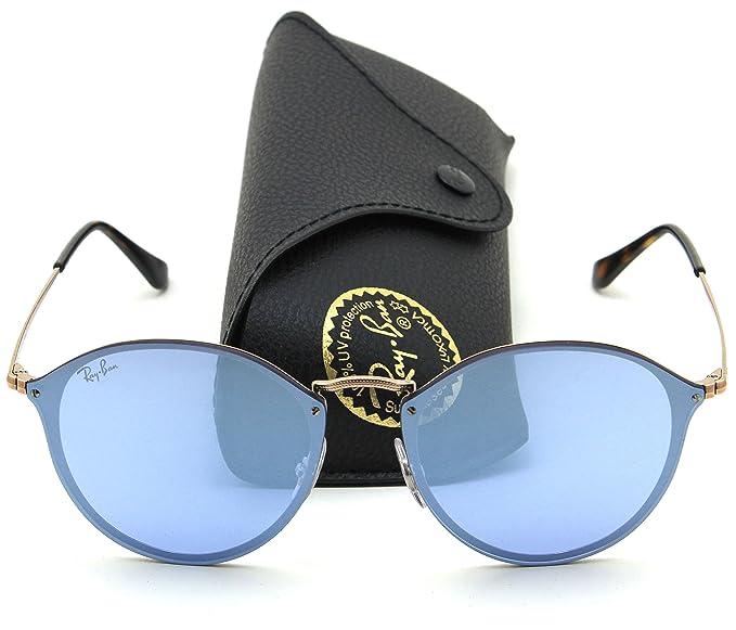 Amazon.com  Ray-Ban RB3574N BLAZE ROUND Mirror Sunglasses 90351U ... 56c574f90ca3
