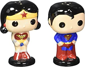 Funko POP Home: DC - Superman & Wonder Woman Salt & Pepper Shakers