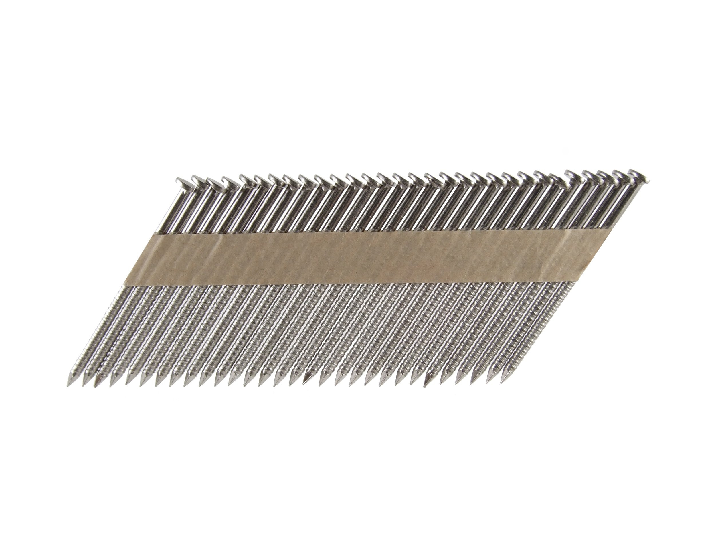 B&C Eagle 314X120RSS/33 Offset Round Head 3-1/4-Inch x .120 x 33 Degree S304 Stainless Steel Ring Shank Paper Tape Collated Framing Nails (1,000 per box)